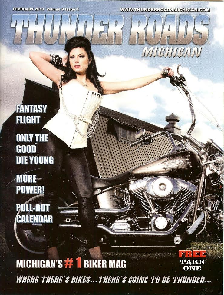 Rebel Girl on the cover of Thunder Roads Magazine