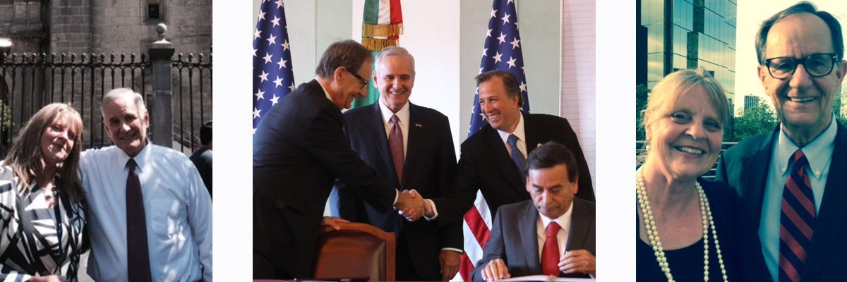 Susan Burns at the Signing of the Memorandum of Understanding between Minnesota and Mexico