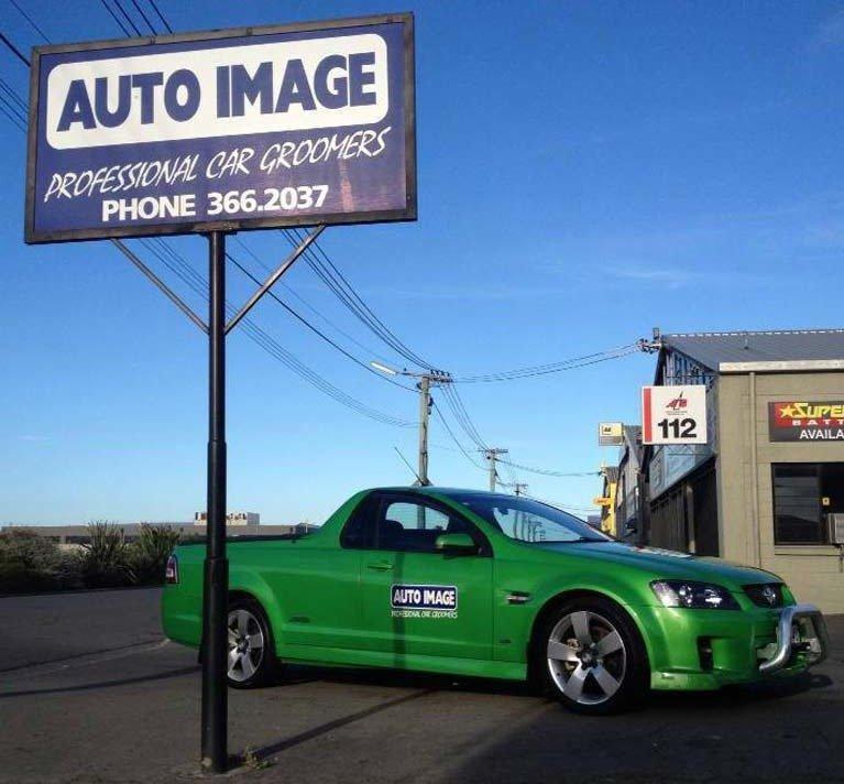 auto image green car
