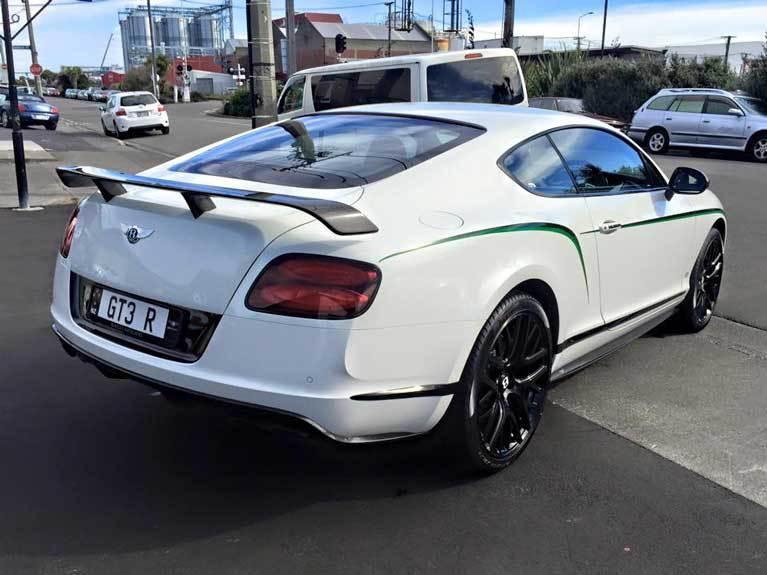 back white car