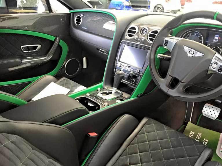 interior green car