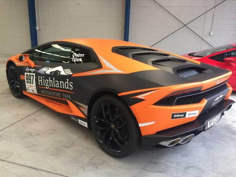 orange fast car