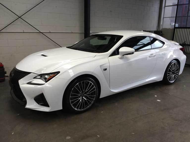 luxurious white car