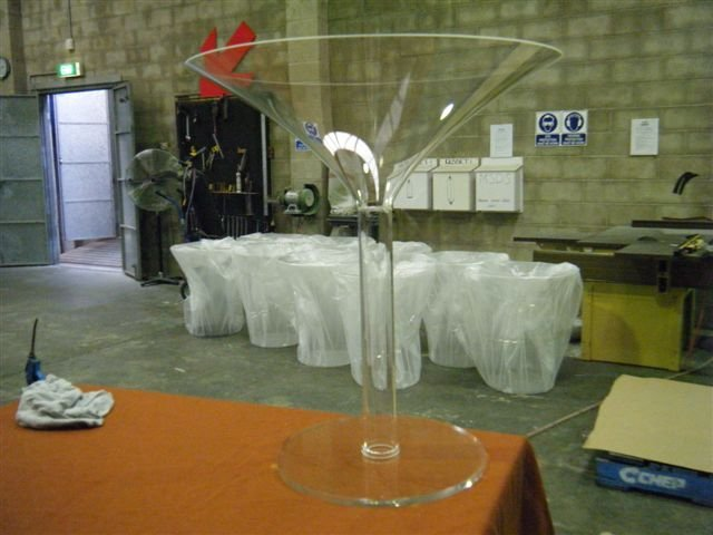 View of the fabrication work done by professional