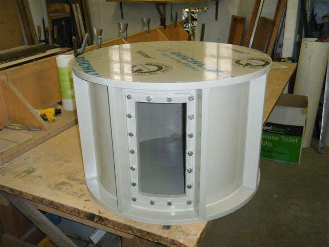 PVC Fabrication work in progress