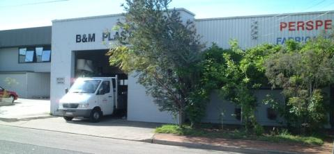 View of the entry to the B&M plastic store