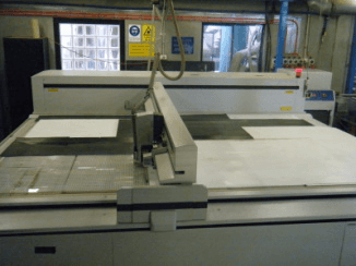 View of a machine used for laser cutting