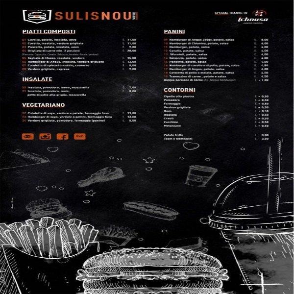 menu' del ristorante Sulisnou