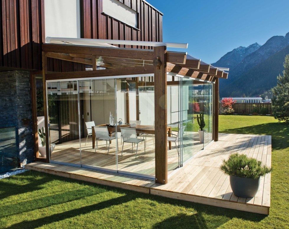 Struttura legno con vetrata