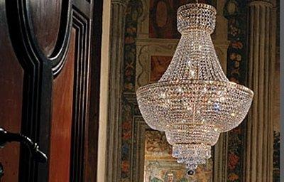 lampadario con swarovski
