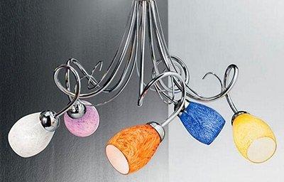 lampadario con faretti colorati