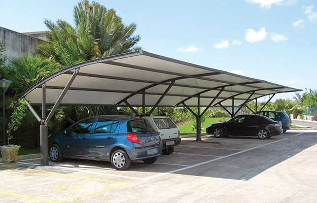gazebo per parcheggio moderno
