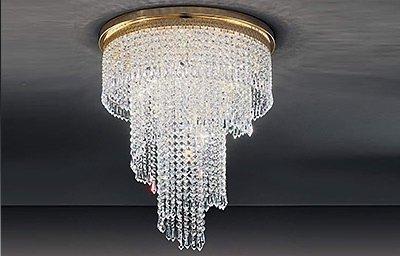 lampadario con pendenti swarovski
