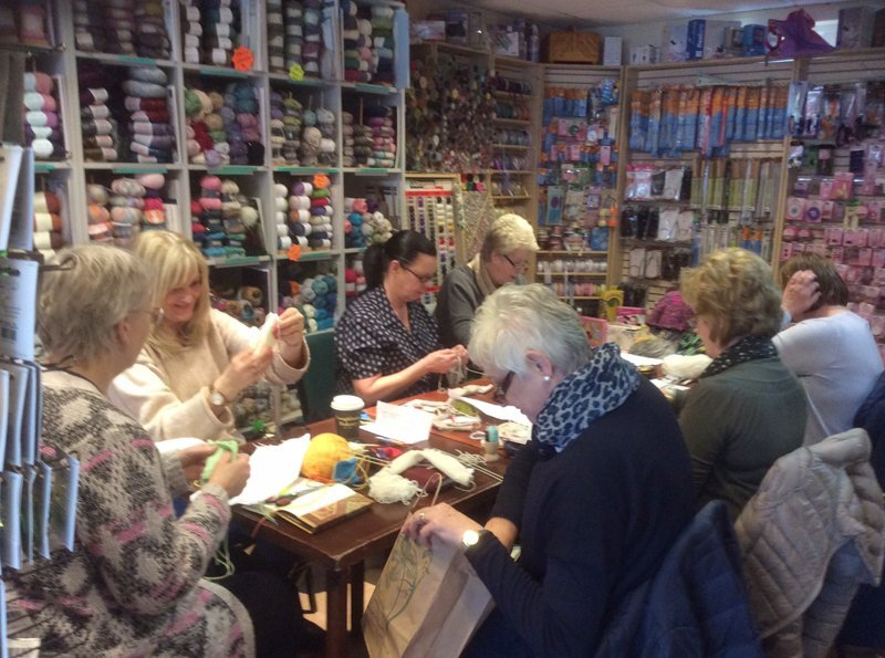 Our Knit and Stitch group!