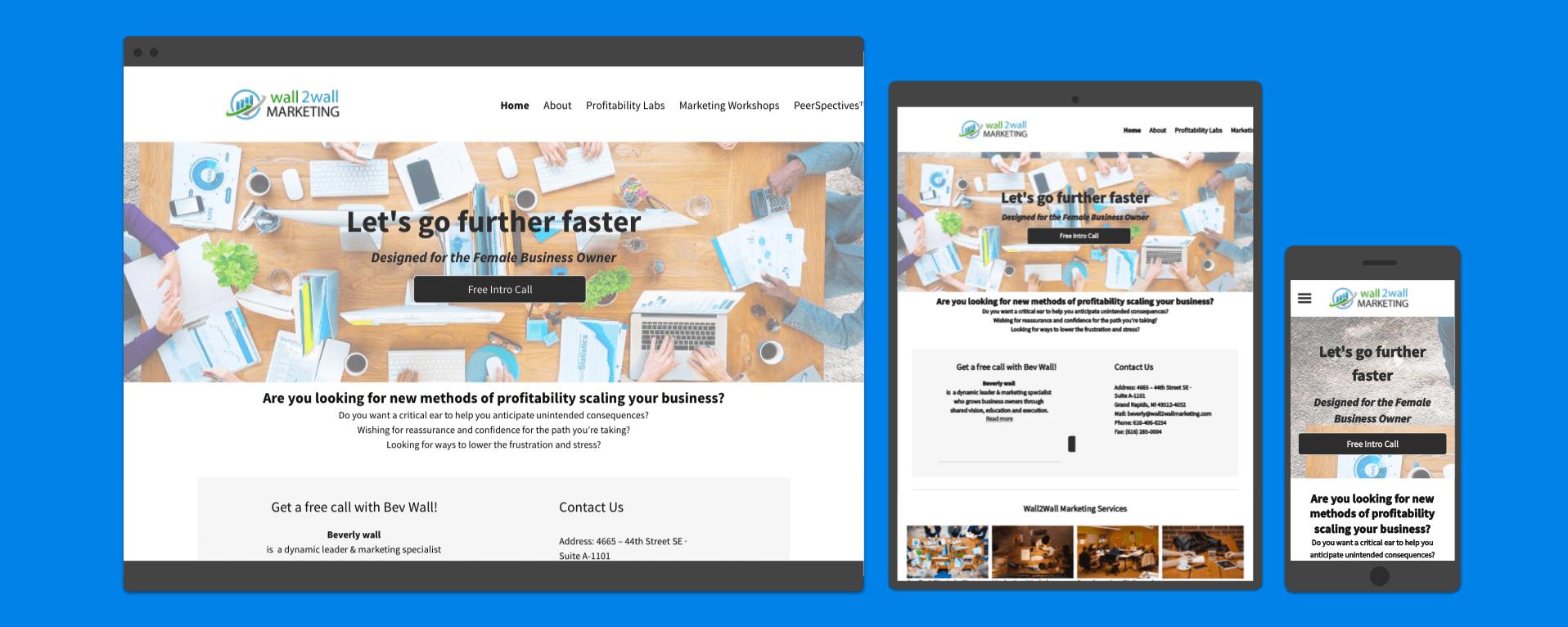 Web Development Portfolio - Marketing Company