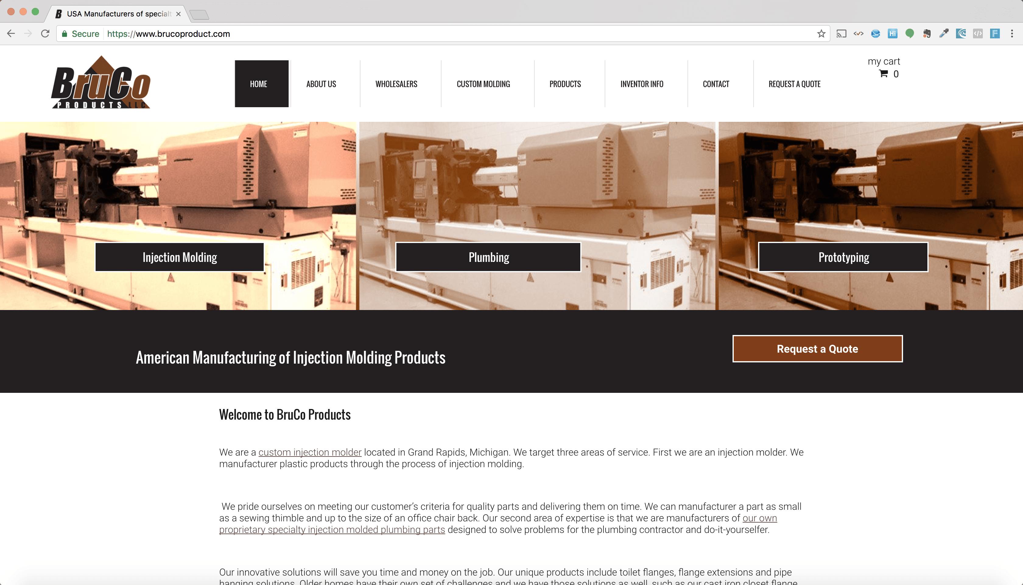 Web Development Portfolio - Manufacturing Company