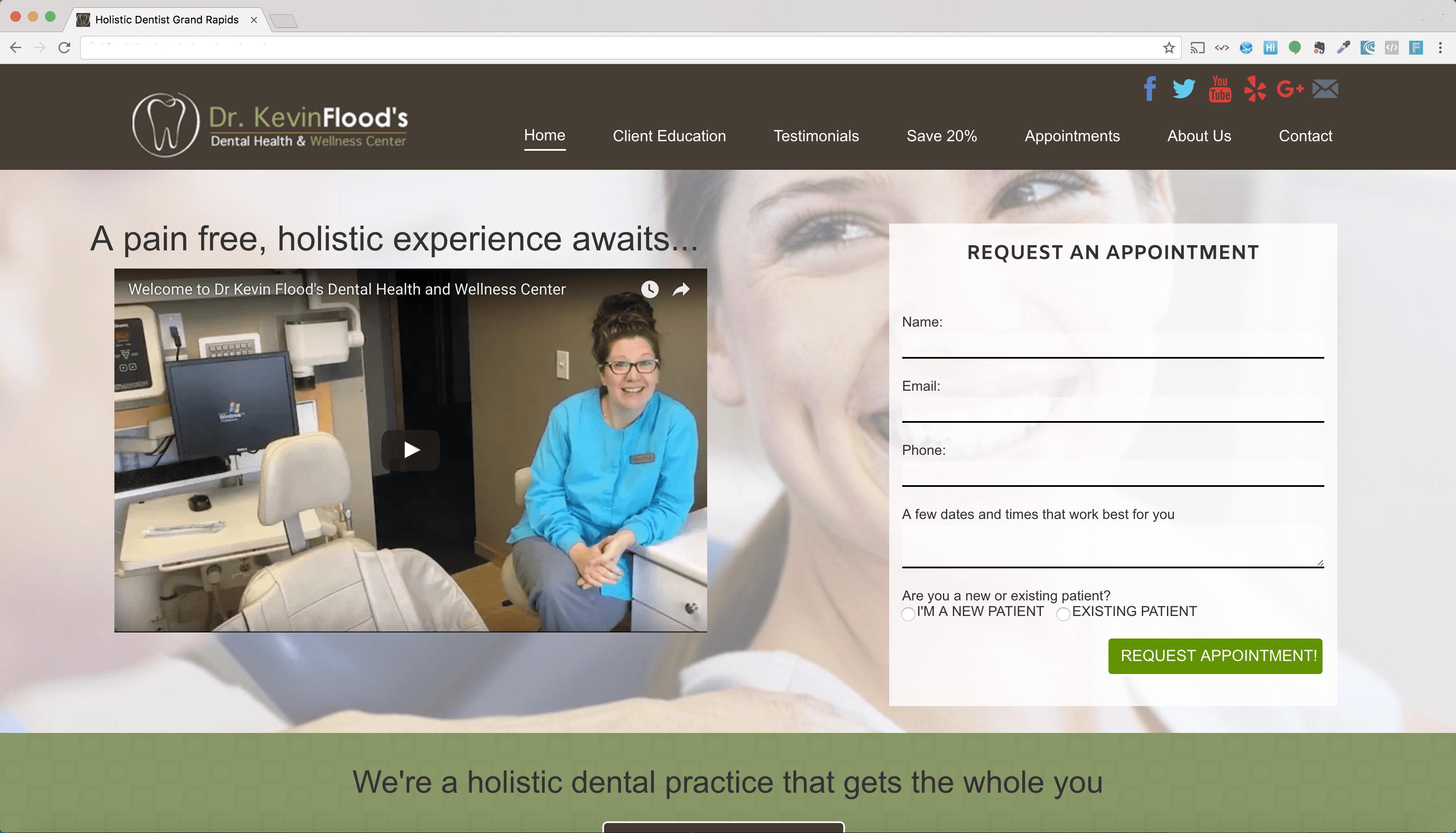 Web Development Portfolio - Dentist
