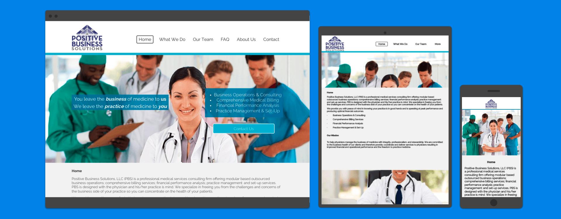 Web Development Portfolio - Medical Billing