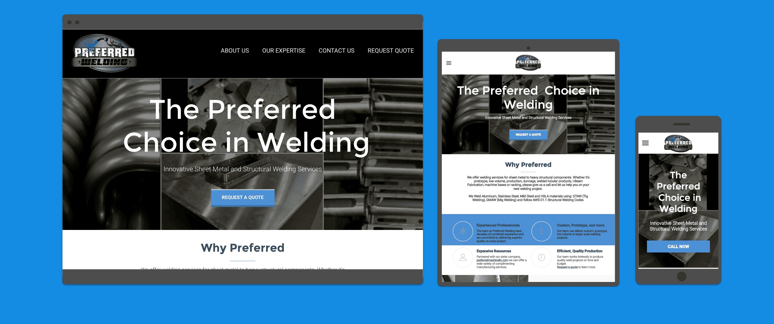 Web Development Portfolio - Welding Company