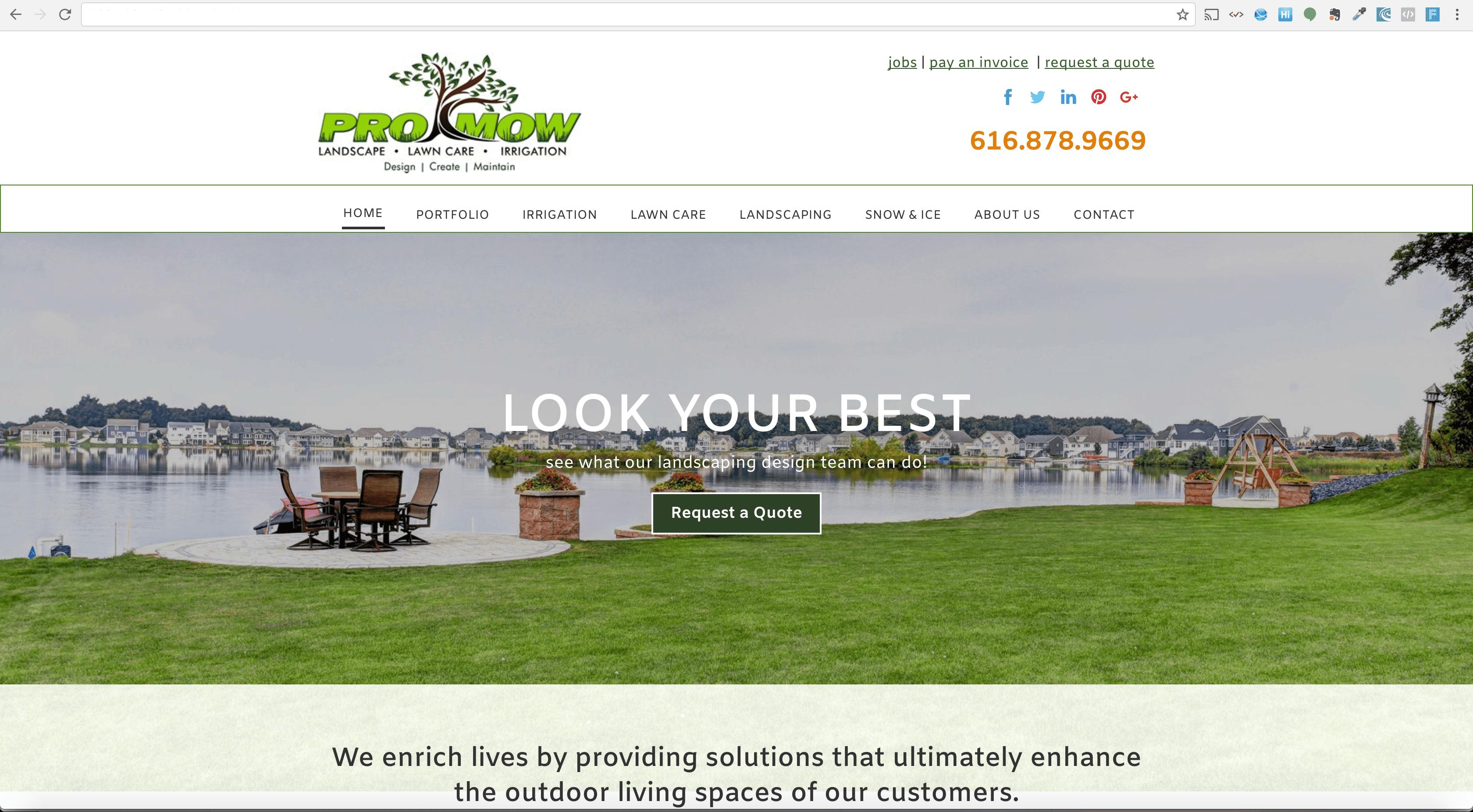 Web Development Portfolio - Lawn and Landscape Company