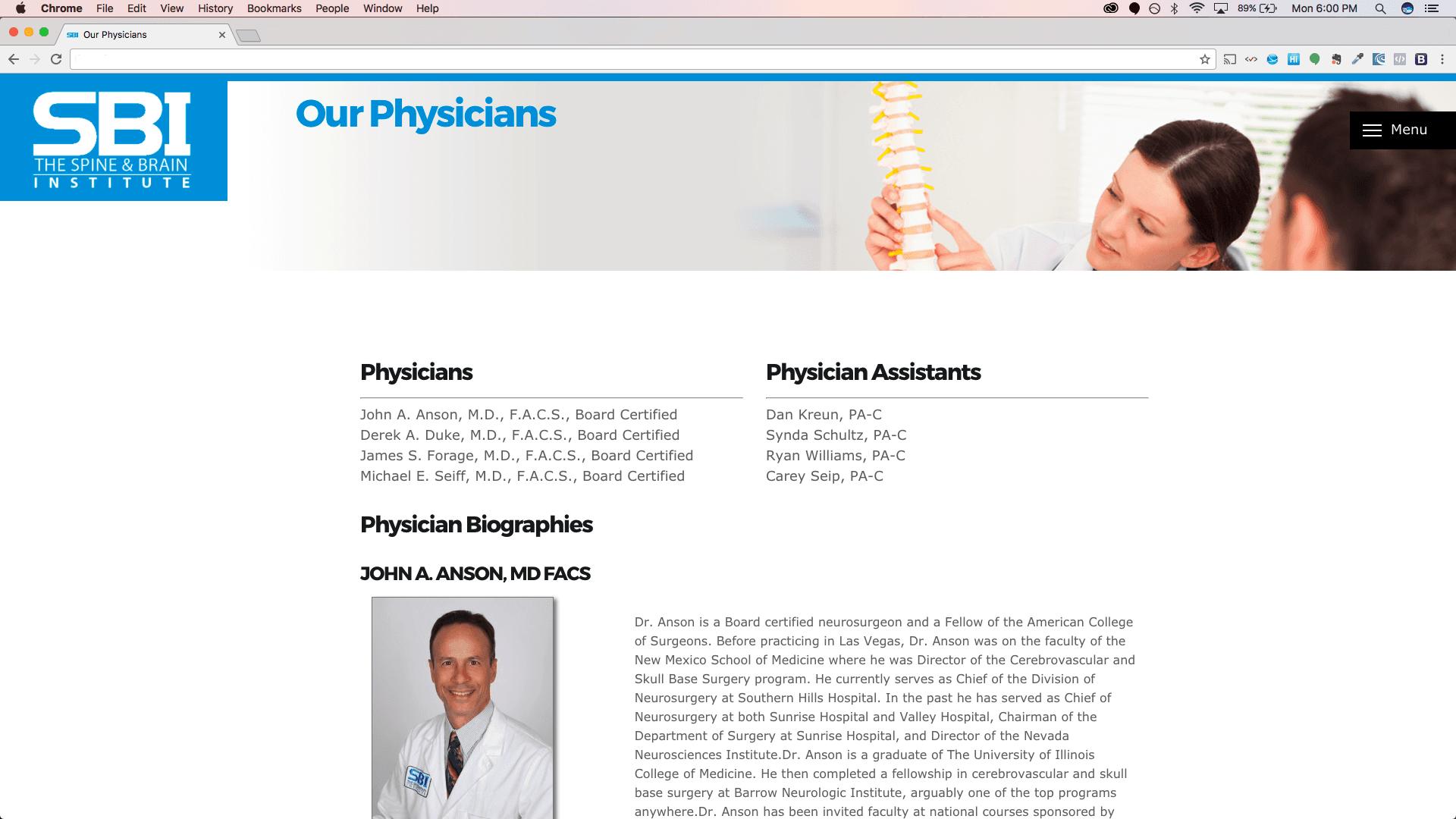 Web Development Portfolio - Doctor