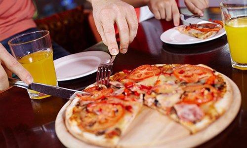 People enjoying Italian food in Wisconsin Rapids, WI