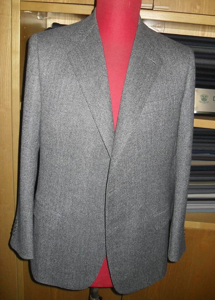 giacca in tweed grigia