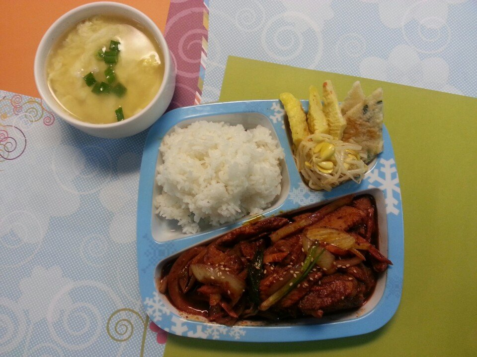Kids Meal Spicy Pork $6.95