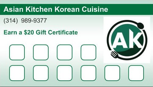 Asian Kitchen Loyalty Card