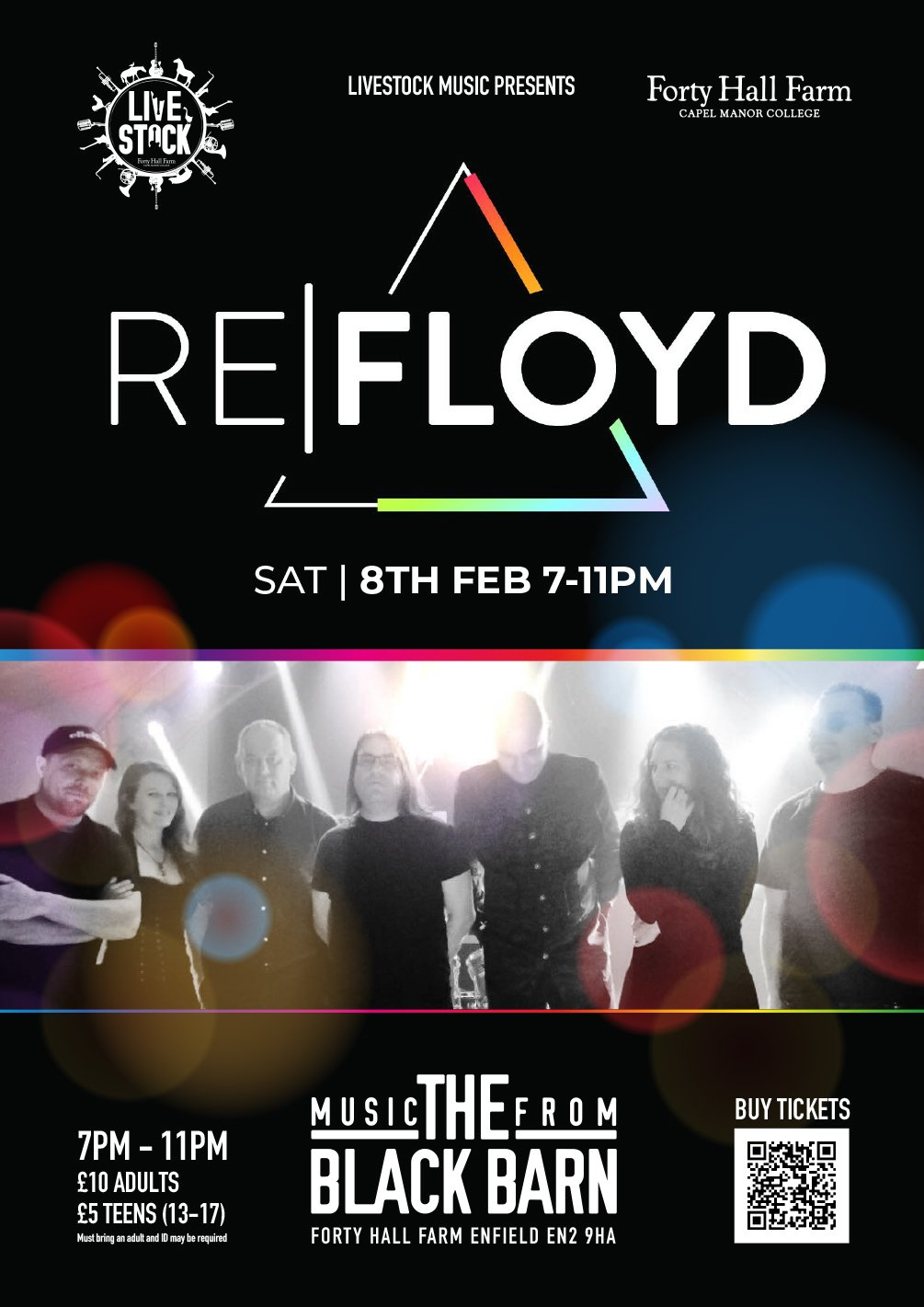 poster or flyer advertising event Music from the Black Barn: ReFloyd