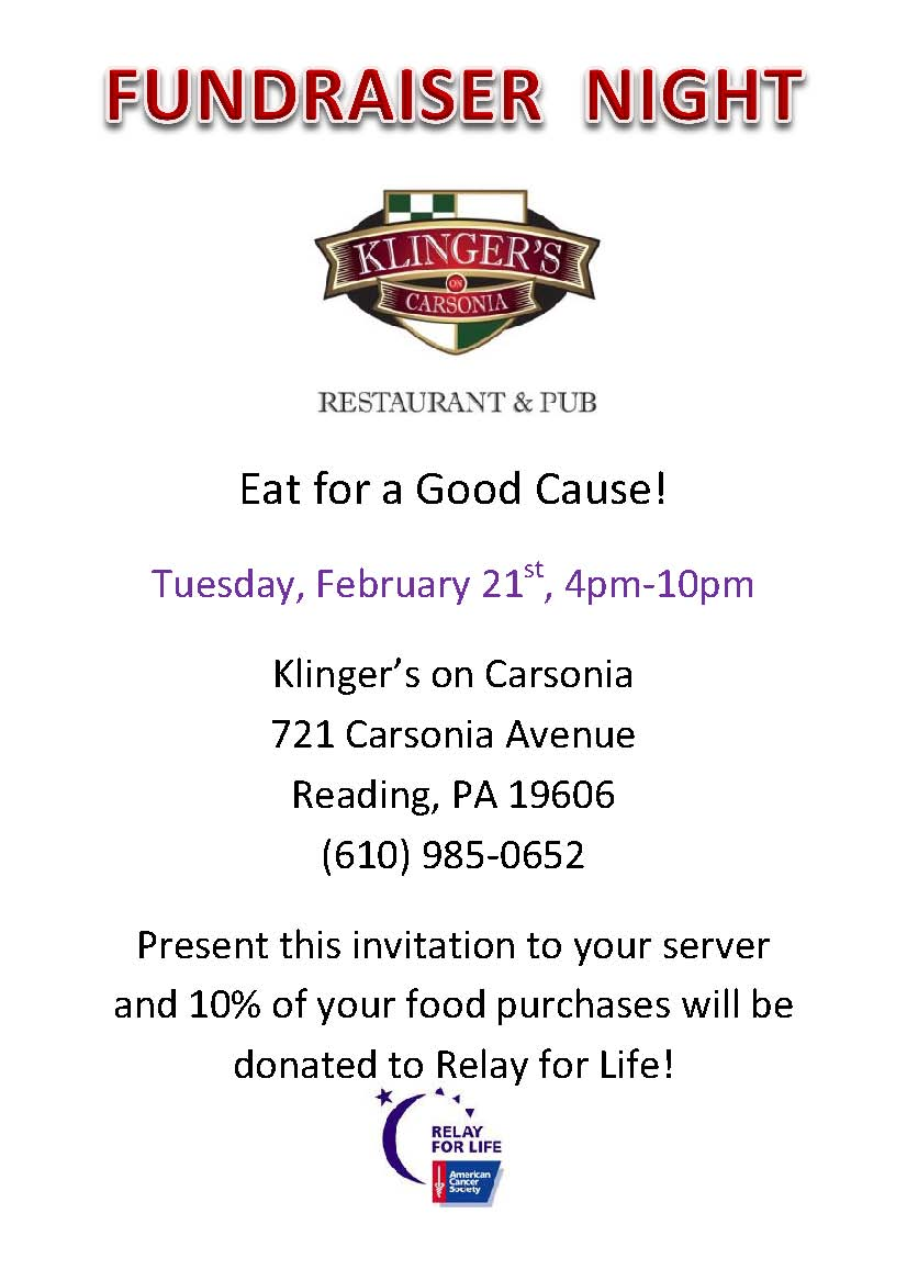 Dine and Donate Night for Relay for Life
