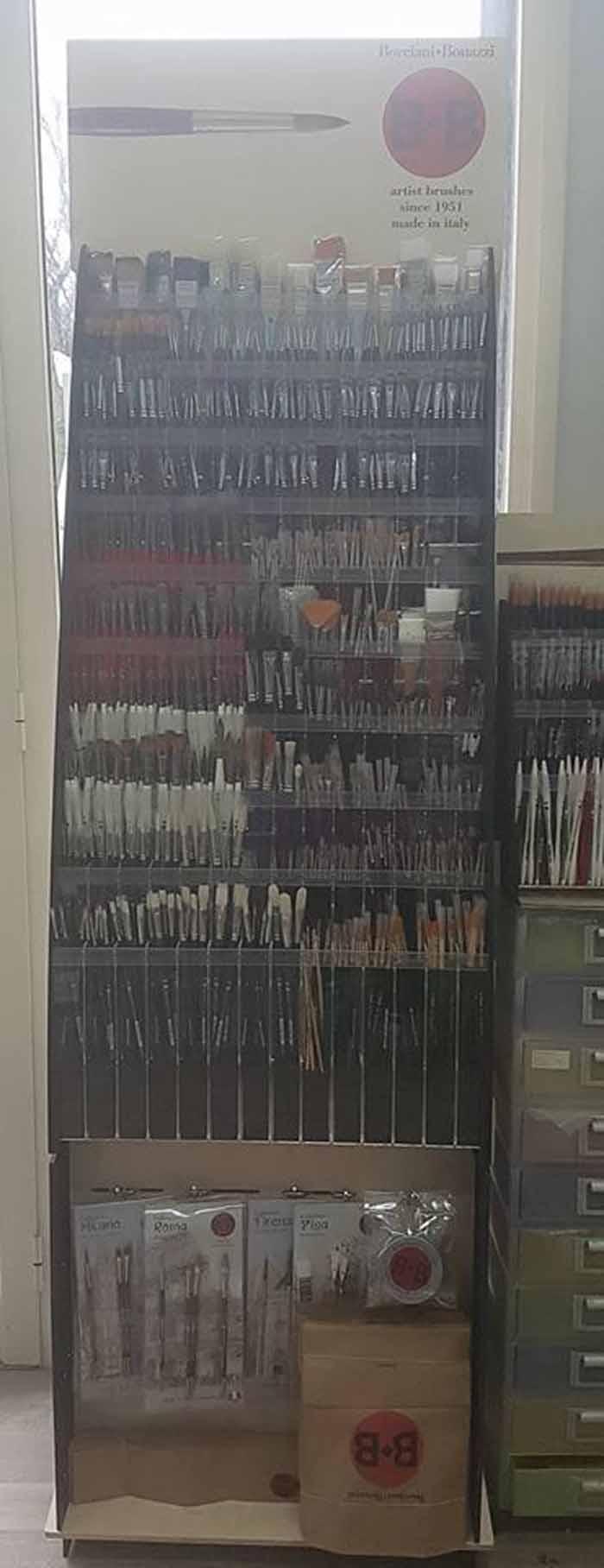 spazzole a forma di penna