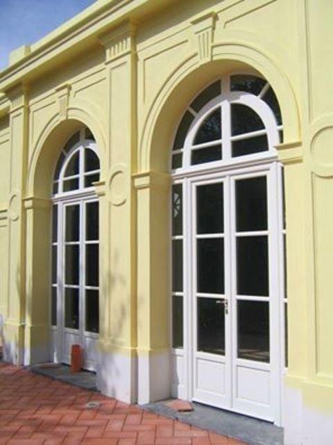 vetrata legno e vetro