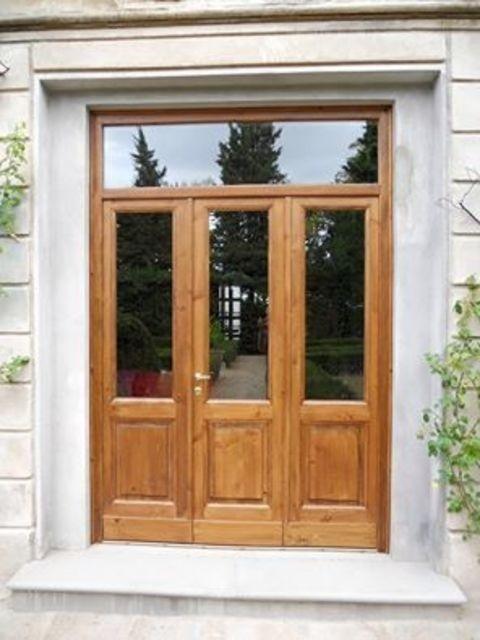 porta vetrata legno
