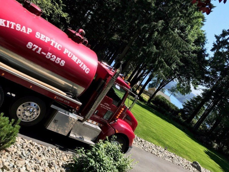 Septic tank service by a professional