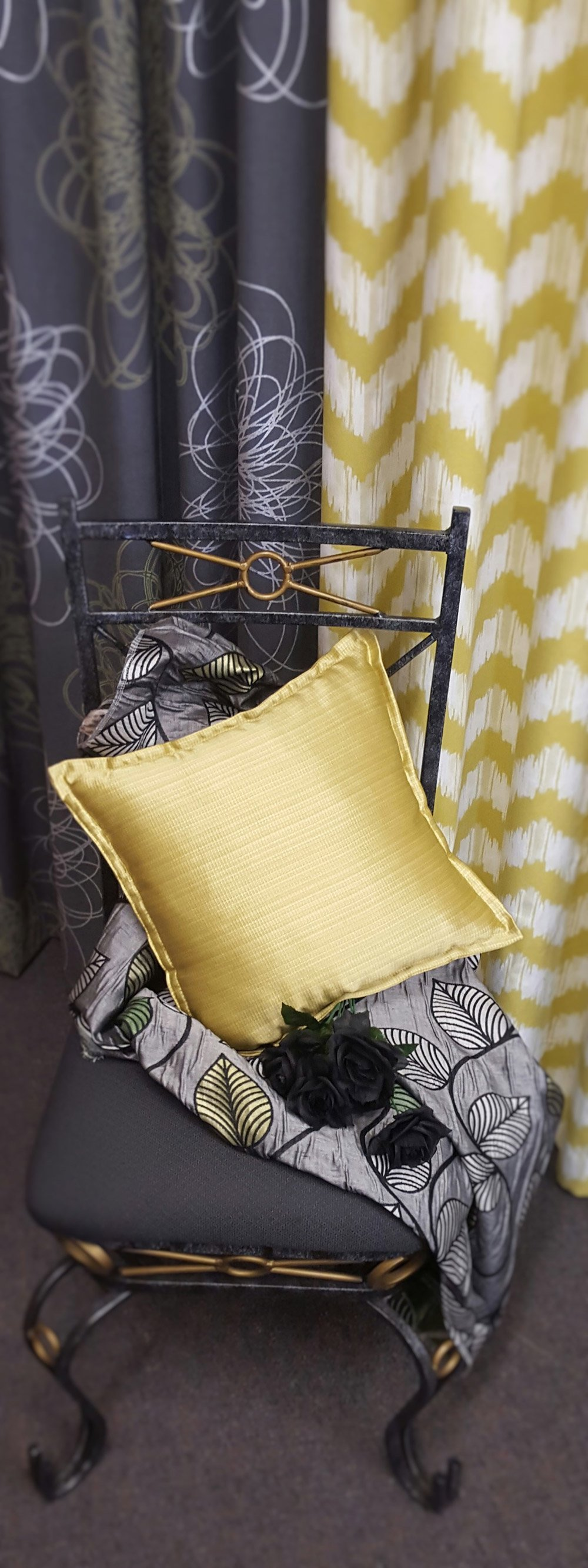 Quality curtains with matching cushion covers