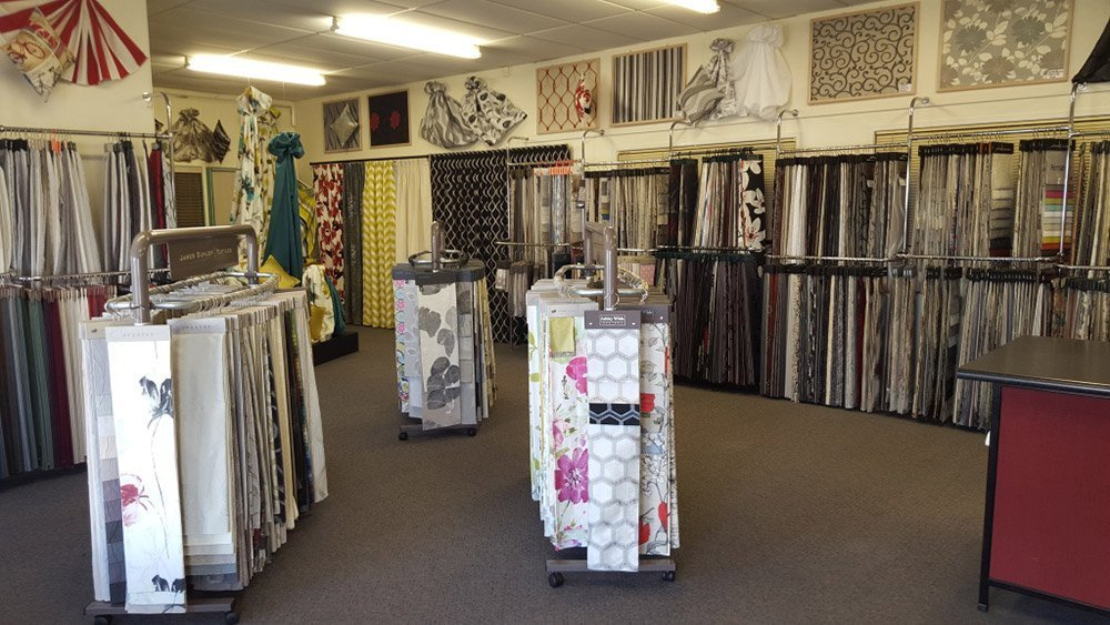 Interior view of the curtain showroom