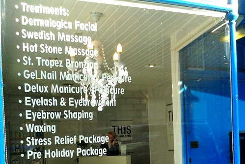 List of treatments in Escape spa in Edinburgh