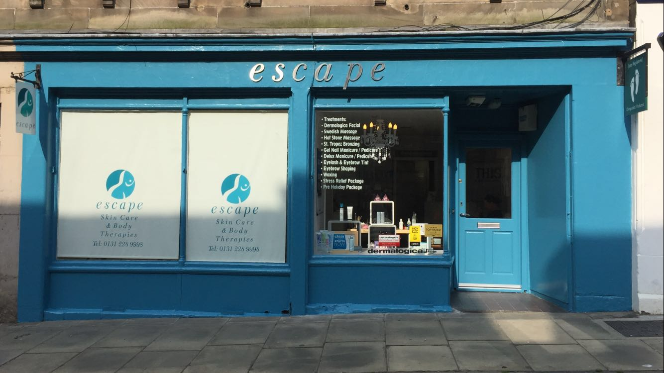 Escape spa front view in Edinburgh