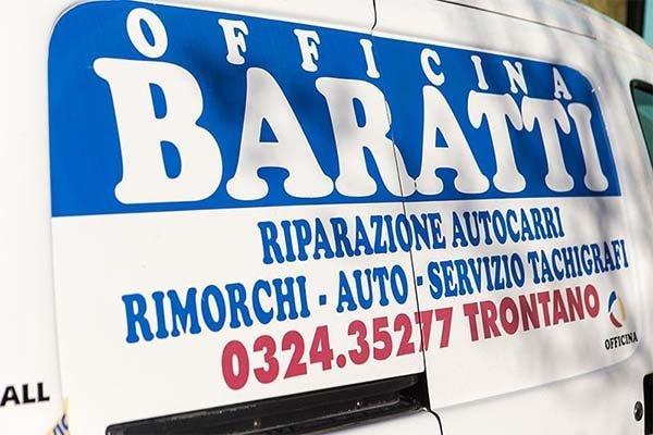 pubblicità di una carrozzeria