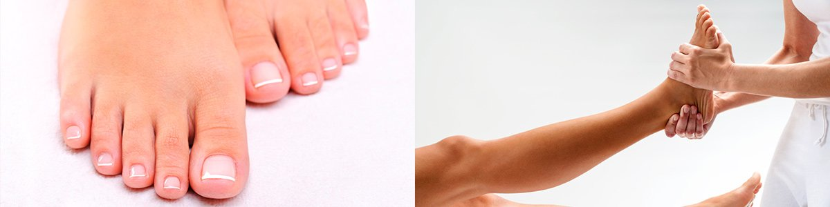 adelaide podiatry massaging female foot