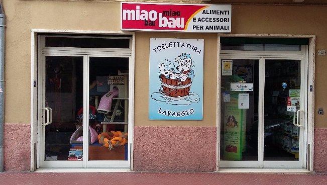 Entrata del negozio Miao Bau vista da fuori