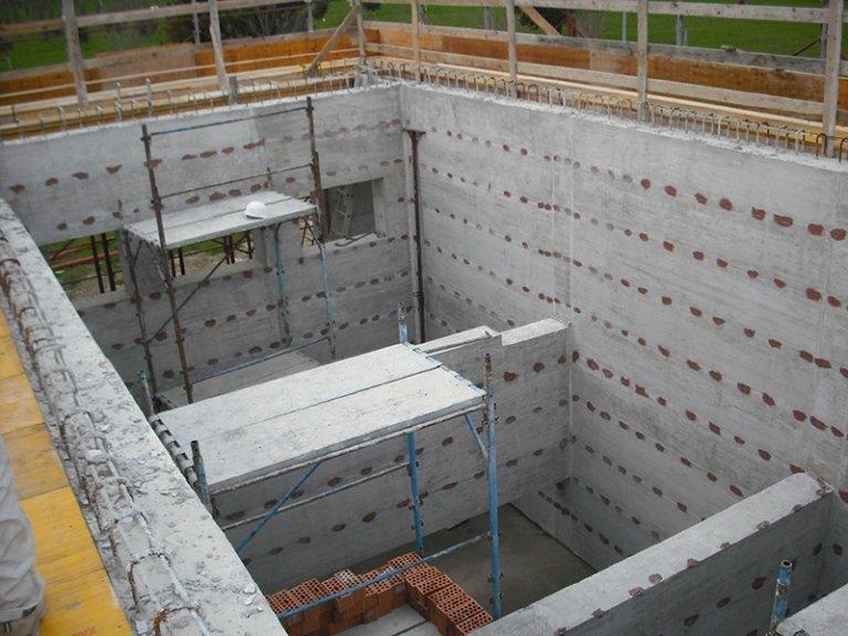 Fondamenta in costruzione