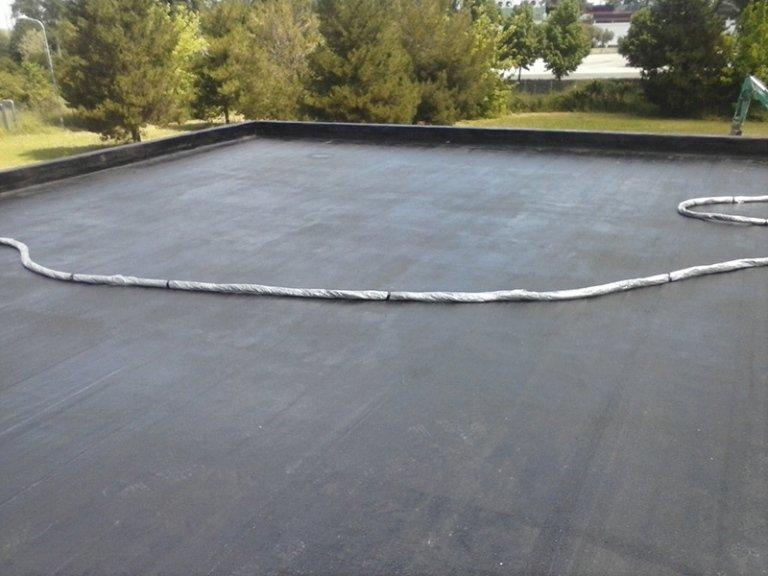 Dettaglio di superficie in cemento impermeabilizzata