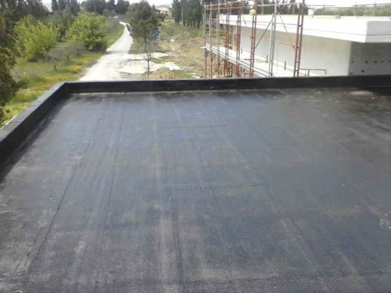 Prospettiva superficie in cemento impermeabilizzata