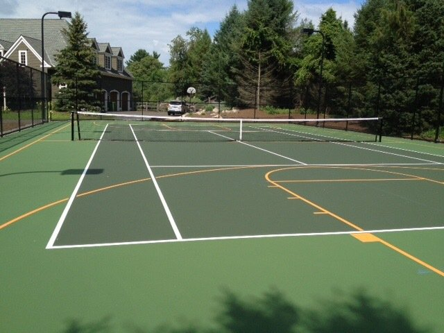 Sports courts dimensions for Sport court size