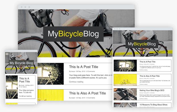 Reddrop Media My Bicycle Blog Template
