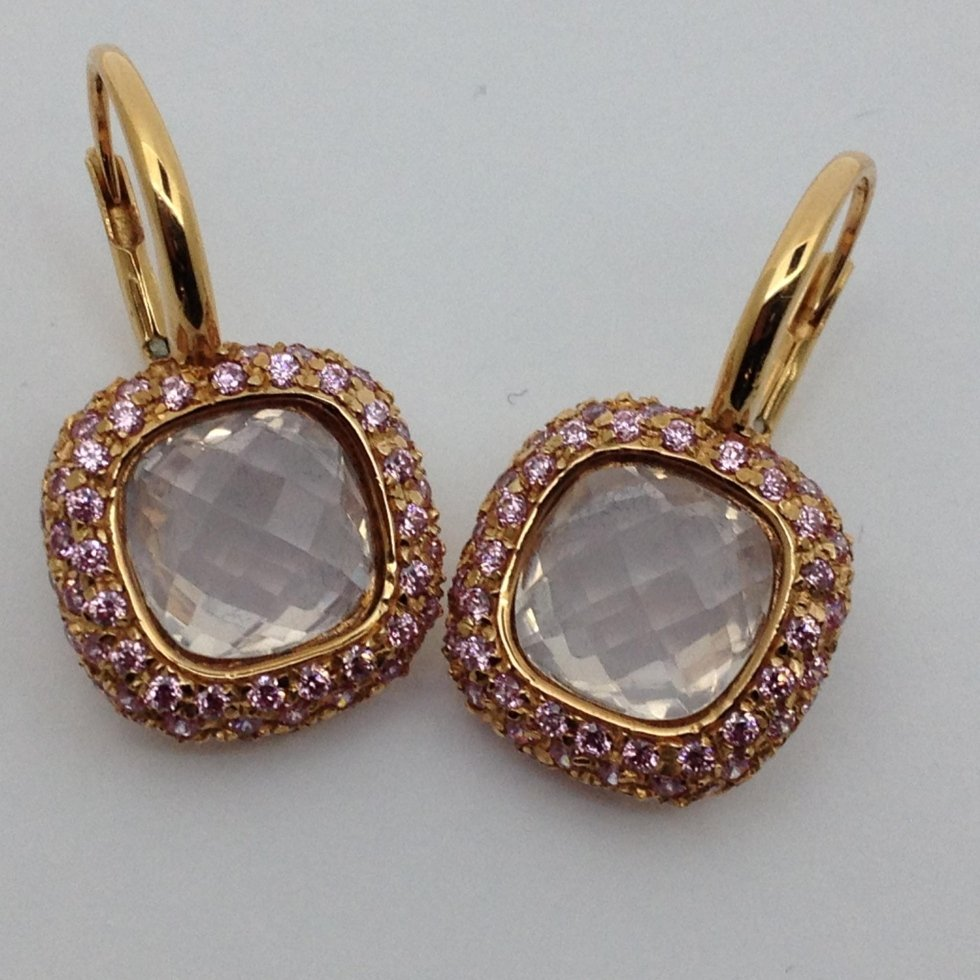 Sales of earrings with precious stones