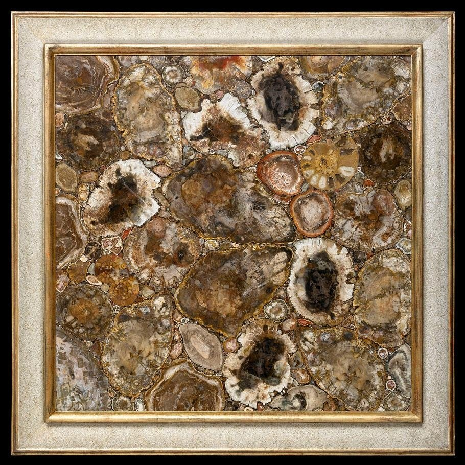 Artwork in fossil wood