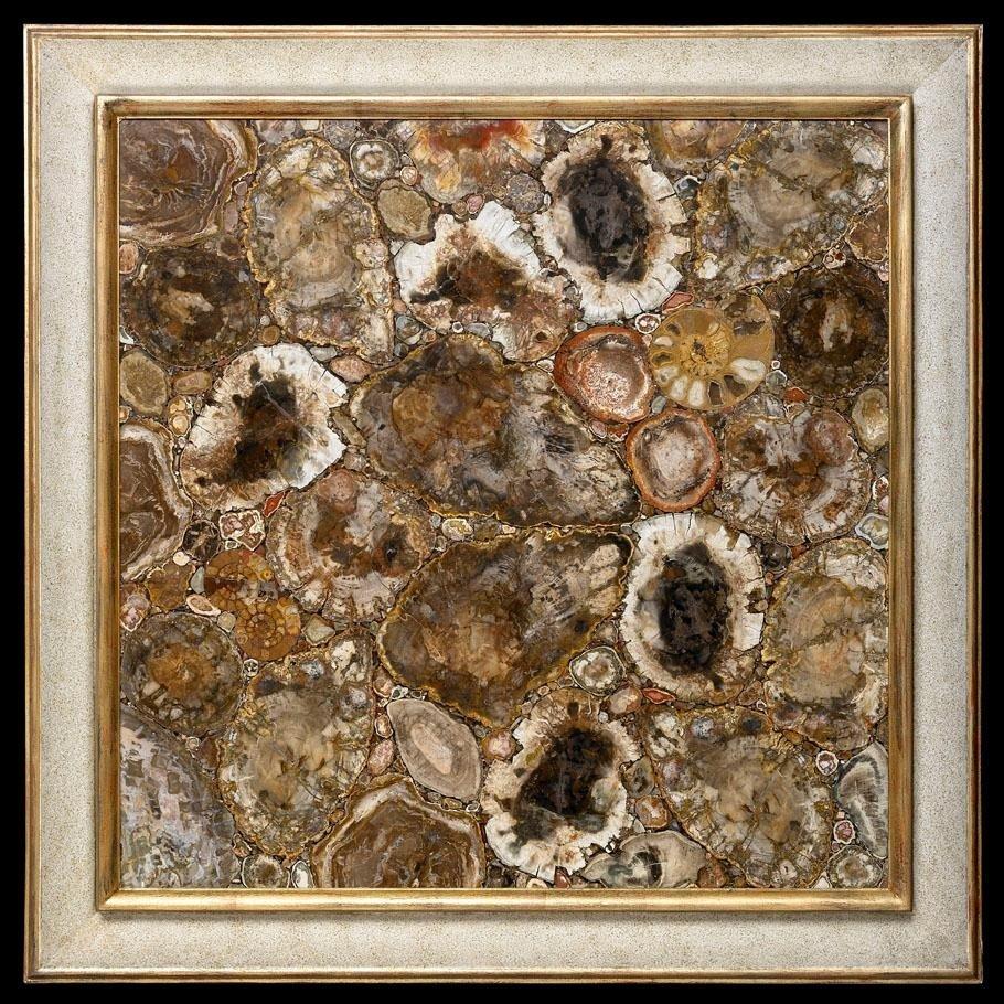 Quadro in legno fossile
